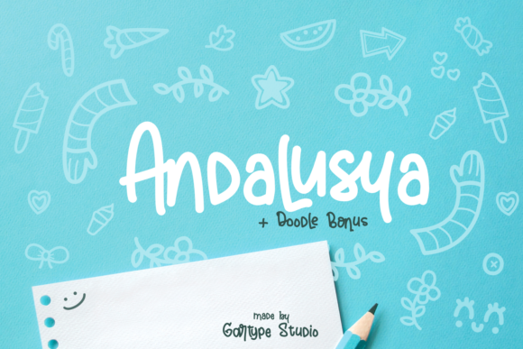 Print on Demand: Andalusya Script & Handwritten Font By GartypeStudio