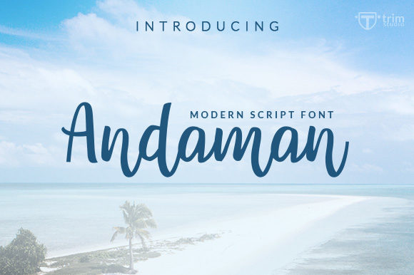 Print on Demand: Andaman Script & Handwritten Font By Trim Studio