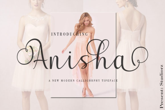 Print on Demand: Anisha Script & Handwritten Font By StudioRz