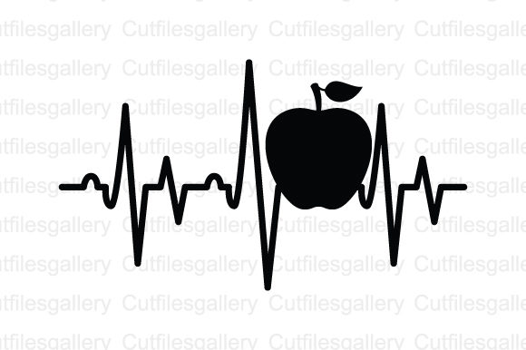 Download Free Apple Heartbeat Graphic By Cutfilesgallery Creative Fabrica for Cricut Explore, Silhouette and other cutting machines.