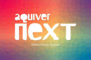 Print on Demand: Aquiver Next Display Font By Spanking Fonts
