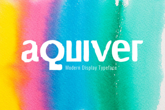 Print on Demand: Aquiver Display Font By Spanking Fonts