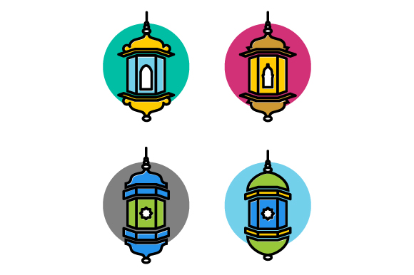 Download Free Arabic Lamp Vector Illustration Graphic By Hartgraphic for Cricut Explore, Silhouette and other cutting machines.