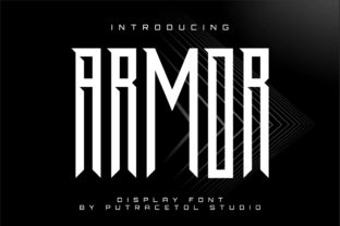 Print on Demand: Armor Display Font By putracetol