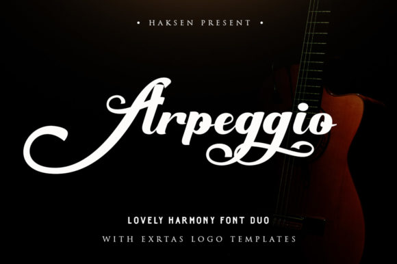 Print on Demand: Arpeggio Duo Script & Handwritten Font By Haksen