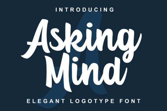 Print on Demand: Asking Mind Script & Handwritten Font By Lettersiro Co.