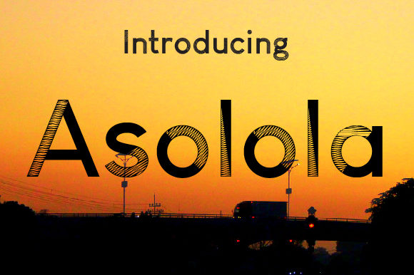 Print on Demand: Asolola Display Font By da_only_aan