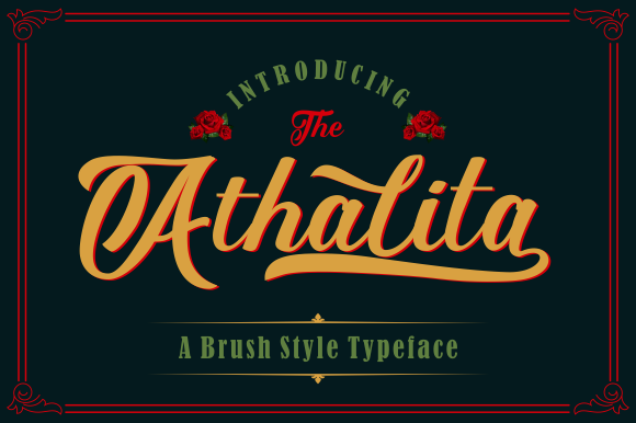Print on Demand: Athalita Script & Handwritten Font By victoriant99