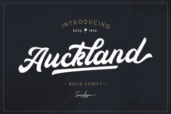Print on Demand: Auckland Script Script & Handwritten Font By saridezra