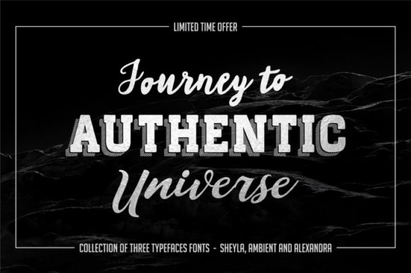 Print on Demand: Authentic Trio Display Font By bywahtung