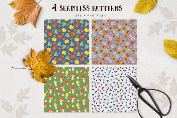 Autumn Flowers Graphic Collections Graphic Graphic Templates By aprzee - Image 2