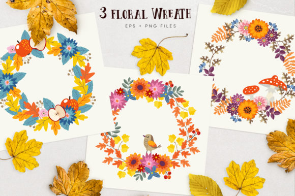 Autumn Flowers Graphic Collections Graphic Graphic Templates By aprzee - Image 4
