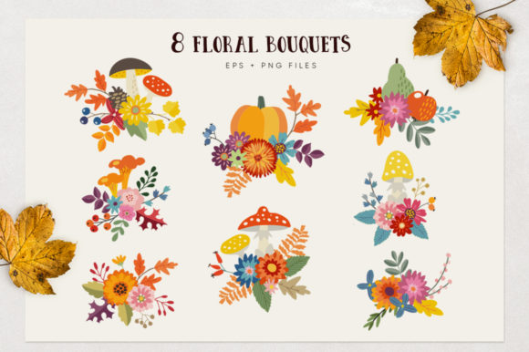 Autumn Flowers Graphic Collections Graphic Graphic Templates By aprzee - Image 7