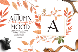 Autumn ORANGE Mood Graphic By BilberryCreate