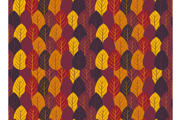 Print on Demand: Autumn Color Seamless Pattern Grafik Muster von iop_micro