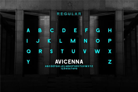 Print on Demand: Avicenna Sans Serif Font By MJB Letters - Image 2