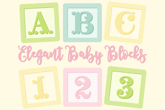 Download Free Baby Blocks Alphabet And Numbers Graphic By Sonyadehart for Cricut Explore, Silhouette and other cutting machines.