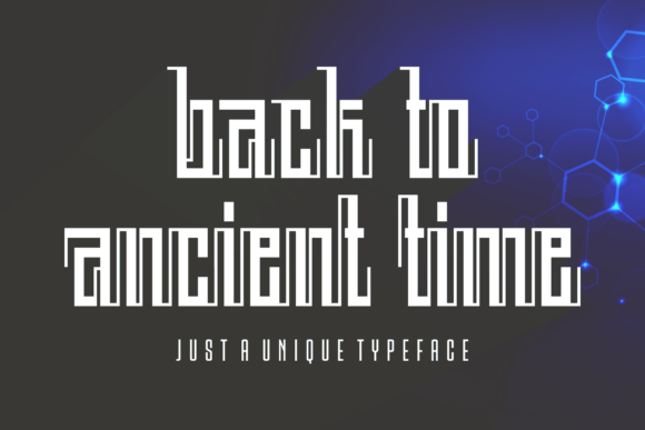 Print on Demand: Back to Ancient Time Display Font By Situjuh