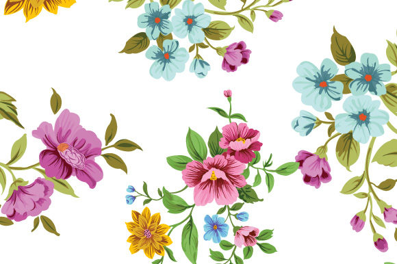 Print on Demand: Background in Small Flowers for Textiles Graphic Patterns By iop_micro