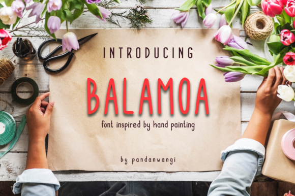 Print on Demand: Balamoa Family Script & Handwritten Font By pandanwangi