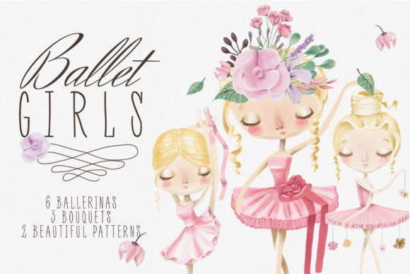 Print on Demand: Ballet Girls Graphic Illustrations By Anna Babich - Image 1