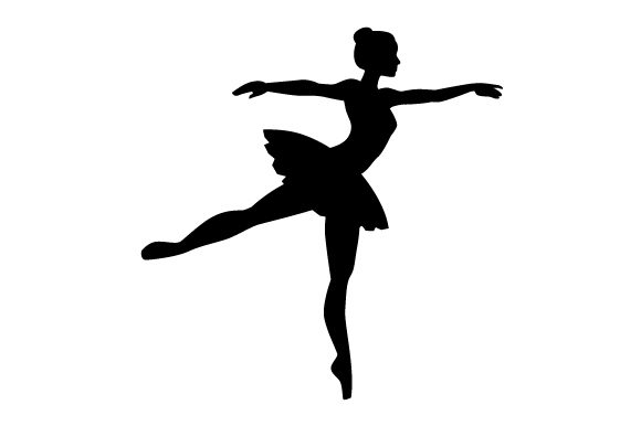 Ballet Dancer Silhouette Dance & Cheer Craft Cut File By Creative Fabrica Crafts