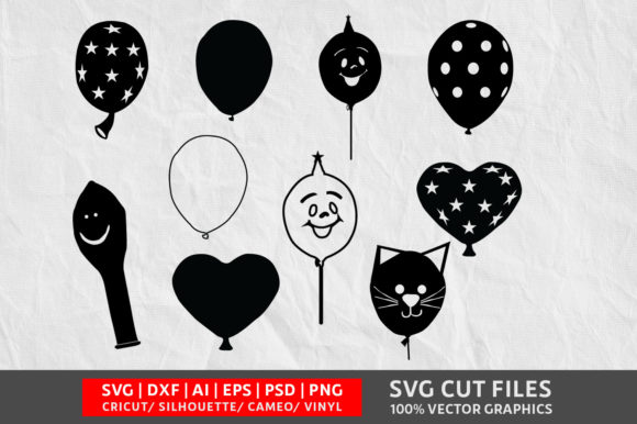 Download Free Balloons Graphic By Design Palace Creative Fabrica for Cricut Explore, Silhouette and other cutting machines.