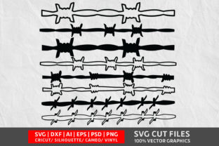 Barbed Wire SVG Graphic By Design Palace