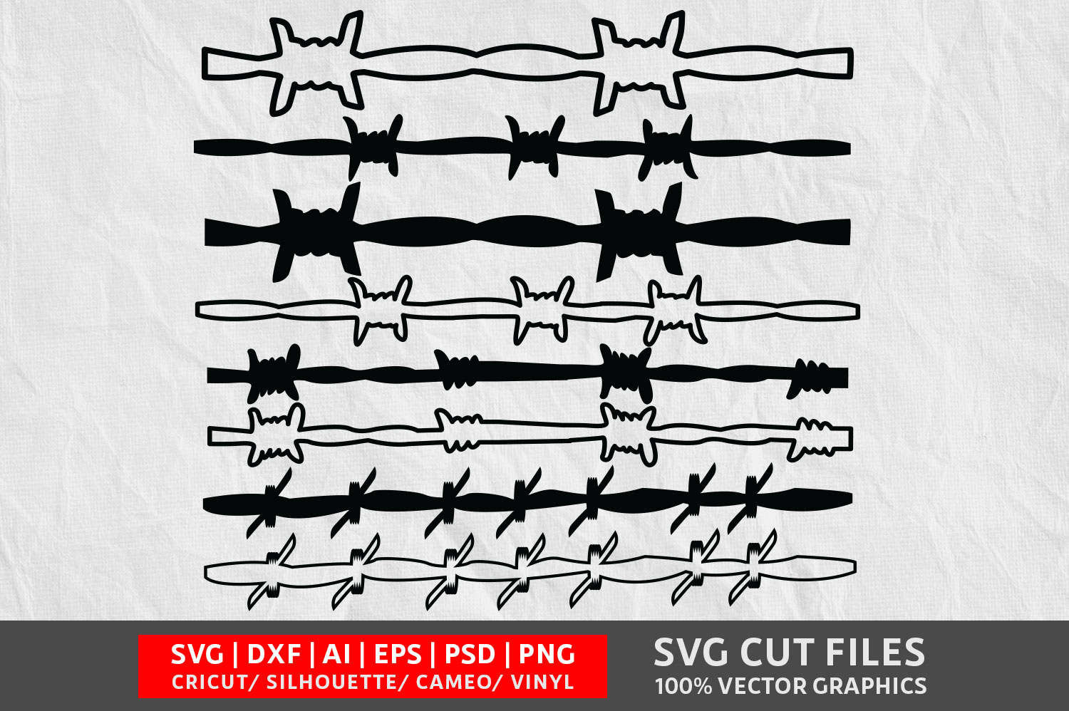 Download Free Barbed Wire Graphic By Design Palace Creative Fabrica for Cricut Explore, Silhouette and other cutting machines.