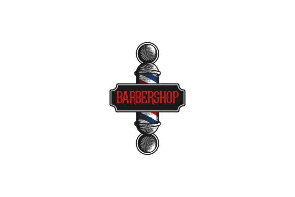Download Free Barber Pole Barber Shop Logo Graphic By Yahyaanasatokillah for Cricut Explore, Silhouette and other cutting machines.