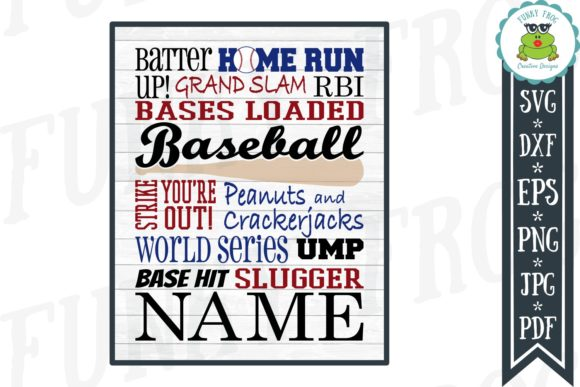 Baseball Subway Art  Graphic Crafts By funkyfrogcreativedesigns - Image 1