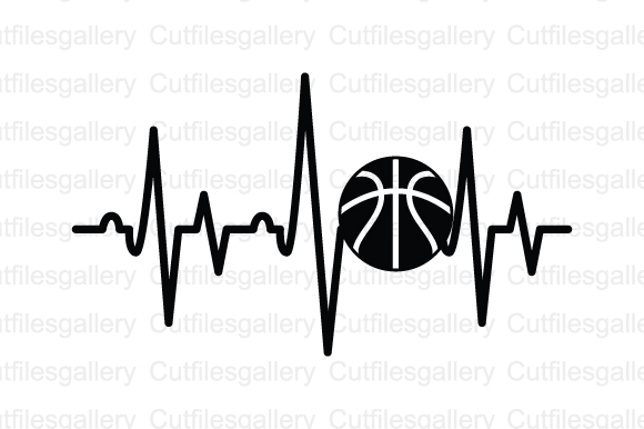 Download Free Basketball Heartbeat Graphic By Cutfilesgallery Creative Fabrica for Cricut Explore, Silhouette and other cutting machines.