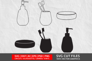 Bathroom Set SVG Graphic By Design Palace