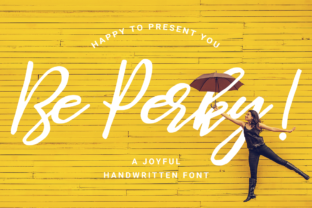 Be Perky Font By LovePowerDesigns