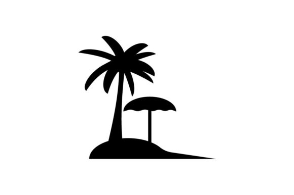 Download Free Beach Monochrome Icon Vector Graphic By Hoeda80 Creative Fabrica SVG Cut Files