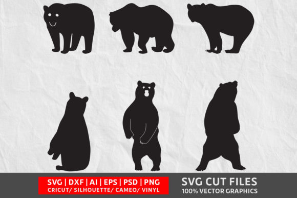 Download Free Bear Graphic By Design Palace Creative Fabrica for Cricut Explore, Silhouette and other cutting machines.