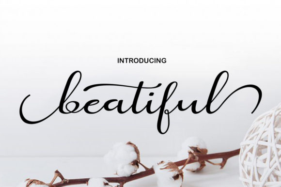 Print on Demand: Beatiful Script & Handwritten Font By siwah.wah52 - Image 1