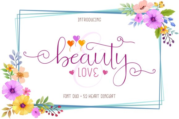 Print on Demand: Beauty and Love Duo Skript & Handgeschrieben Schriftarten von putracetol