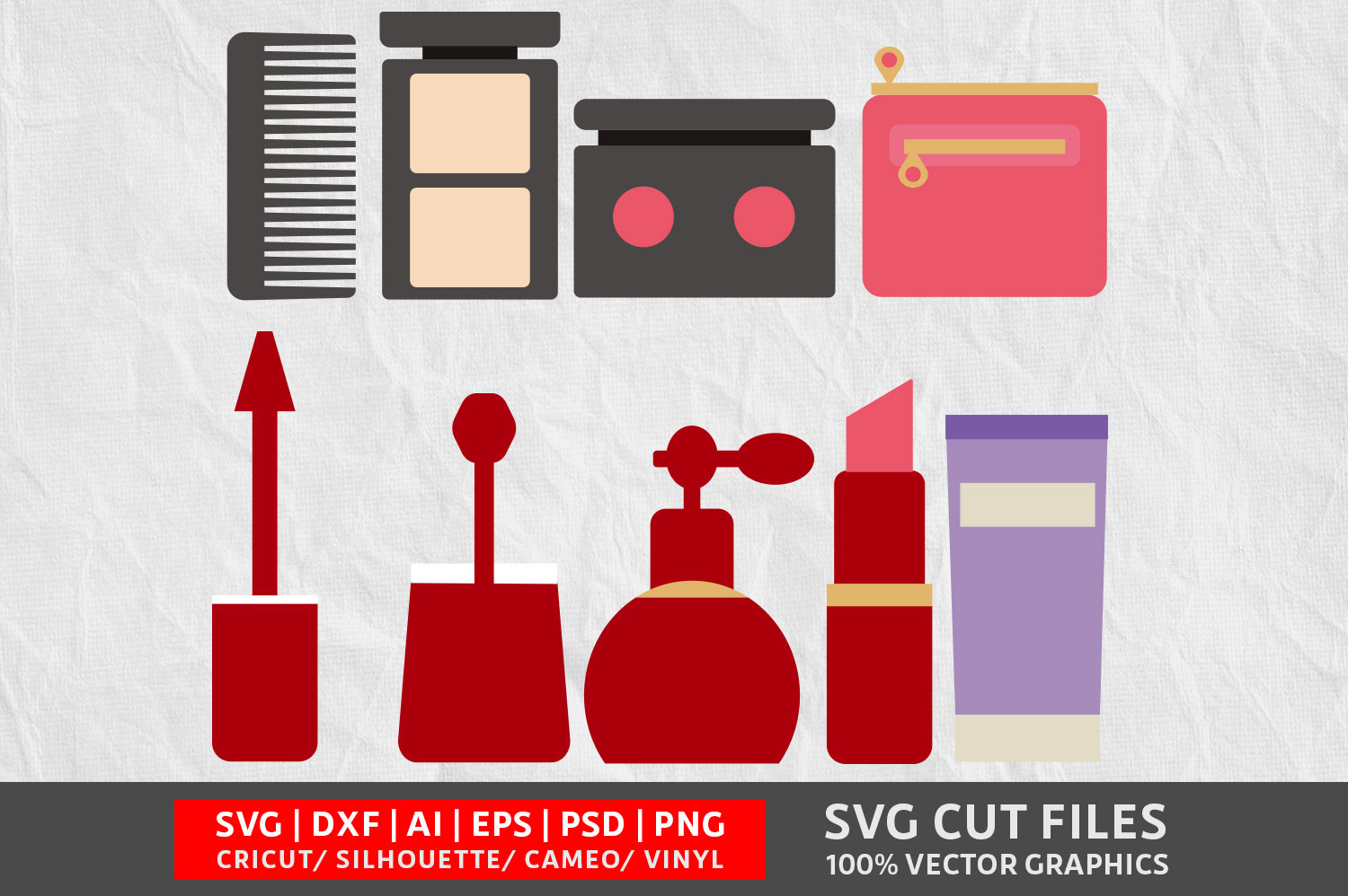 Download Free Beauty Tool Svg Graphic By Design Palace Creative Fabrica for Cricut Explore, Silhouette and other cutting machines.