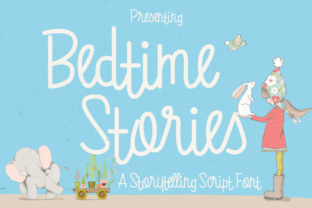 Bedtime Stories Font By LovePowerDesigns
