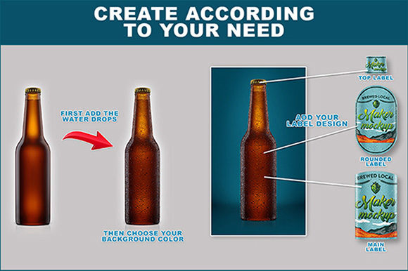 Download Free Beer Bottle Mockup Graphic By Brunonunesdp Creative Fabrica for Cricut Explore, Silhouette and other cutting machines.