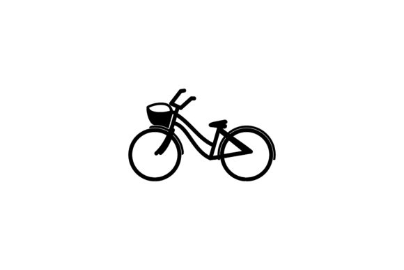 Download Free Bicycle Mono Line Logo Graphic By Yahyaanasatokillah Creative for Cricut Explore, Silhouette and other cutting machines.