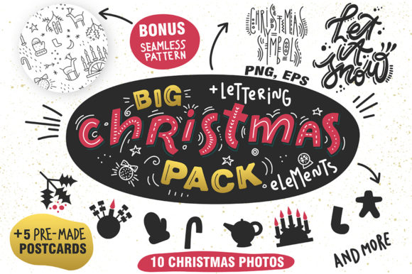 Print on Demand: Big Christmas Pack Graphic Illustrations By struvictory