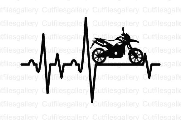 Download Free Biker Heartbeat Graphic By Cutfilesgallery Creative Fabrica for Cricut Explore, Silhouette and other cutting machines.