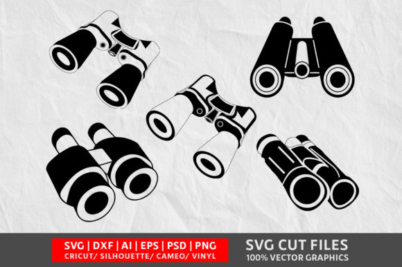 Download Free Binoculars Graphic By Design Palace Creative Fabrica for Cricut Explore, Silhouette and other cutting machines.