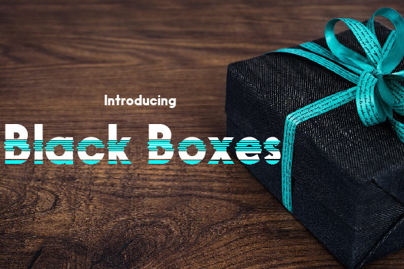 Print on Demand: Black Boxes Display Font By da_only_aan