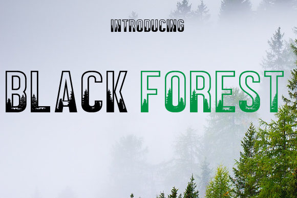 Print on Demand: Black Forest Decorative Font By da_only_aan