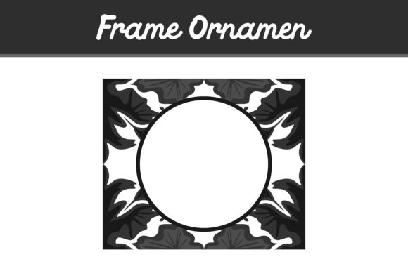 Print on Demand: Black Frame Ornament Graphic Backgrounds By Arief Sapta Adjie - Image 1