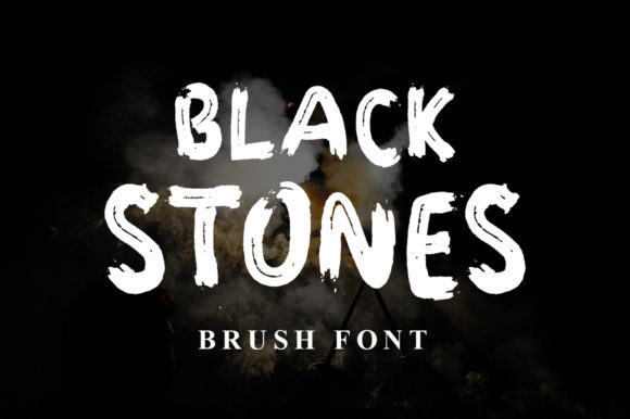 Print on Demand: Black Stones Display Font By fanastudio - Image 1