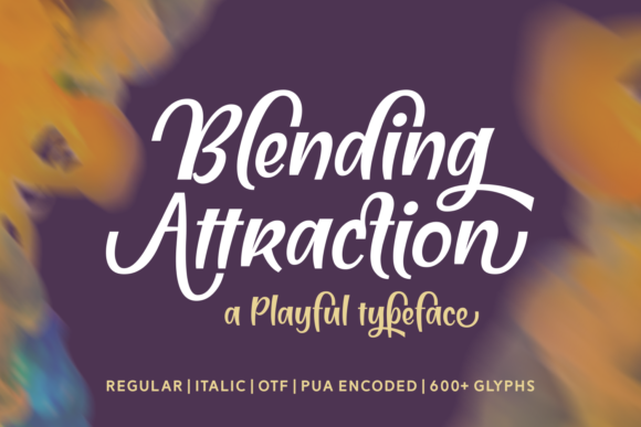 Print on Demand: Blending Attraction Script & Handwritten Font By Situjuh - Image 1